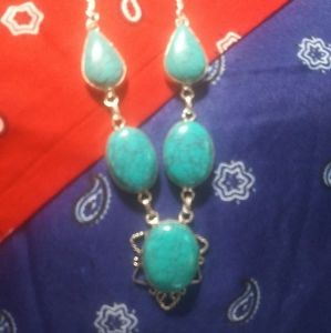 Sweet Turquoise & Sterling Necklace 925